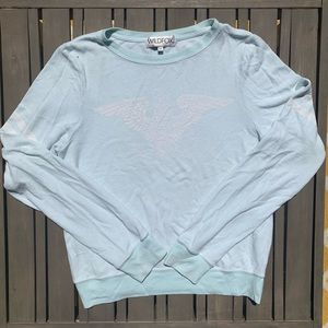 Mint green wildfox with faint eagle design